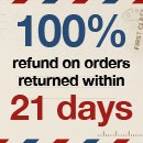 21 days returns policy