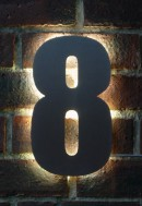 Buy a stunning back lit house number