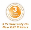 3 Years Warranty On New OKI Printers